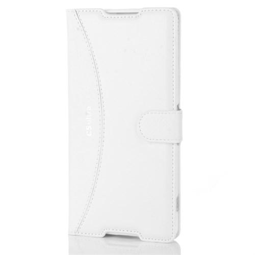 Cep Market Sony Xperia C5 Ultra Kılıf Kapaklı Cüzdan Kartvizitli - Beyaz