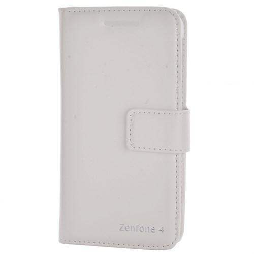 Cep Market Asus Zenfone 4 Kılıf Kopçalı Kapaklı Kartvizitli Cüzdan - Beyaz