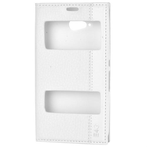 Cep Market Sony Xperia E4g Kılıf Kapaklı Pencereli Magnum - Beyaz