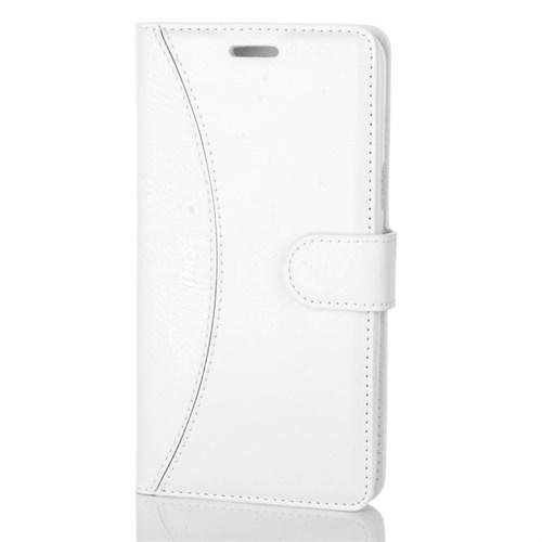 Cep Market Samsung Galaxy On5 Kılıf Kapaklı Cüzdan Kartvizitli - Beyaz