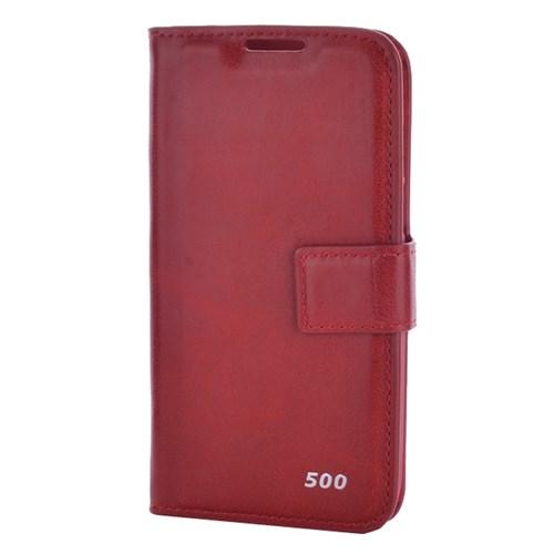 Cep Market Nokia Lumia 530 Kılıf Kapaklı Kartvizitli Sola Açılan - Kırmızı