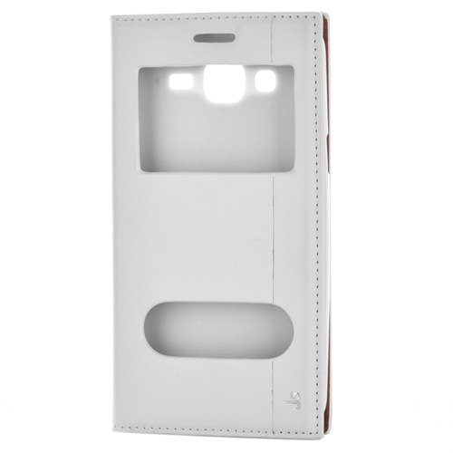 Cep Market Samsung Galaxy J5 Kılıf Kapaklı Pencereli Milano - Beyaz