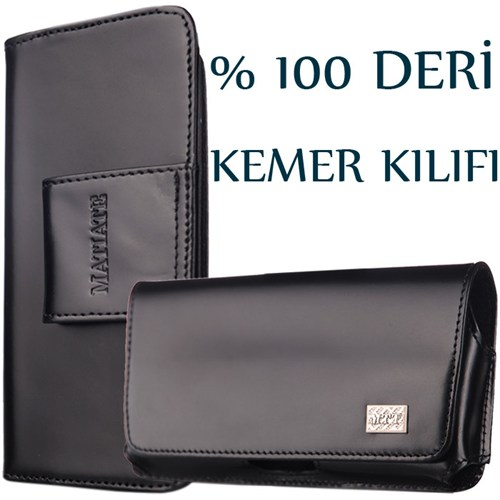 CoverZone İphone 5 5S Kılıf Kemer Model % 100 Deri