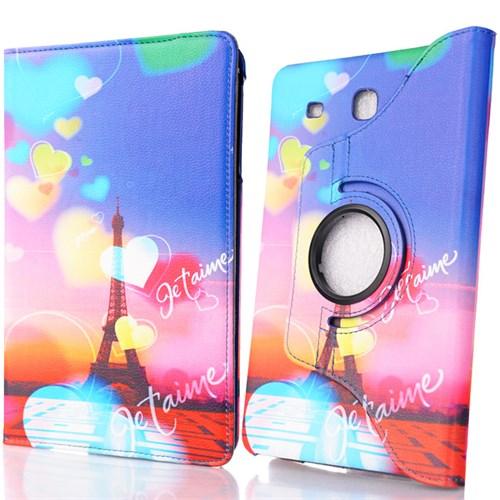 CoverZone Samsung Galaxy Tab E T560 Kılıf Eyfel Kulesi Desenli