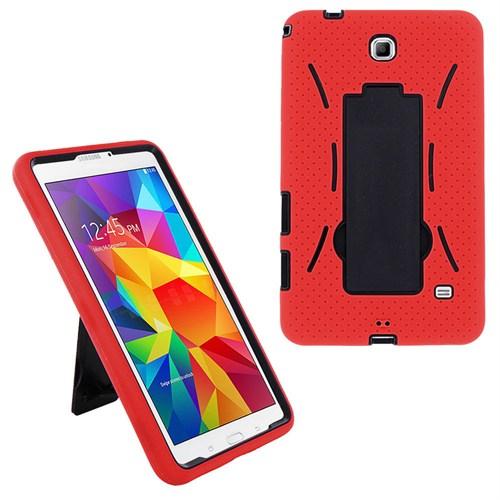 CoverZone Samsung Galaxy Tab 4 T230 Kılıf Antişok Koruma Kırmızı