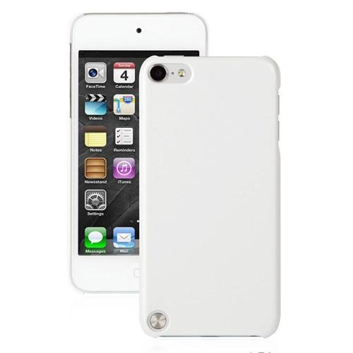 CoverZone Apple İpod Touch 5 Kılıf Parlak Sert Rubber Beyaz