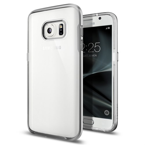 Spigen Galaxy S7 Kılıf Neo Hybrid Crystal Satin Silver - 555CS20021