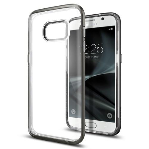 Spigen Samsung Galaxy S7 Kılıf Neo Hybrid Crystal Gun Metal - 555CS20022