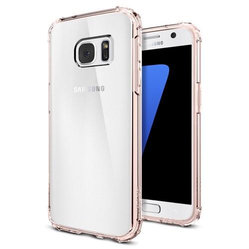 Spigen Galaxy S7 Kılıf Crystal Shell Rose Crystal - 555CS20099