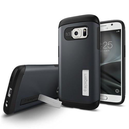 Spigen Samsung Galaxy S7 Kılıf Slim Armor Metal Slate - 555CS20024