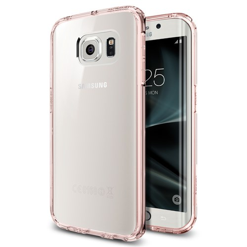Spigen Samsung Galaxy S7 Edge Kılıf Ultra Hybrid Rose Crystal - 556CS20035