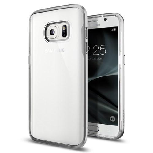 Spigen Samsung Galaxy S7 Edge Kılıf Neo Hybrid Crystal Satin Silver - 556CS20046