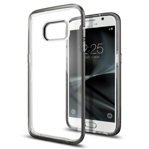 Spigen Samsung Galaxy S7 Edge Kılıf Neo Hybrid Crystal Gun Metal - 556CS20047
