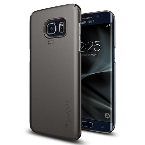 Spigen Galaxy S7 Edge KılıfThin Fit Ultra İnce Gun Metal - 556CS20030