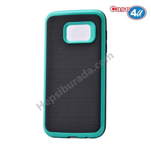 Case 4U Samsung Galaxy S7 Infinity Koruyucu Kapak Koyu Turkuaz