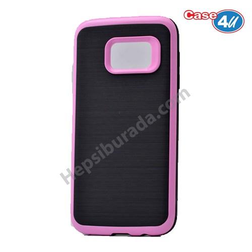 Case 4U Samsung Galaxy S7 Infinity Koruyucu Kapak Koyu Pembe