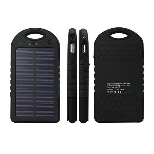 Case 4U Solar Taşınabilir Şarj Cihazı 5000 mAh Siyah - ES500
