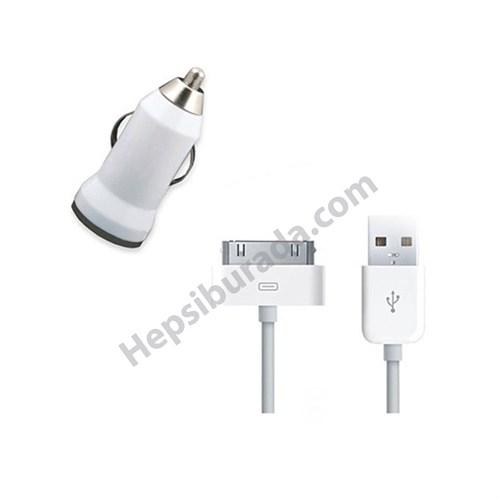 Fonemax Apple İphone 4-4S Araç Şarj Cihazı+Data Kablosu