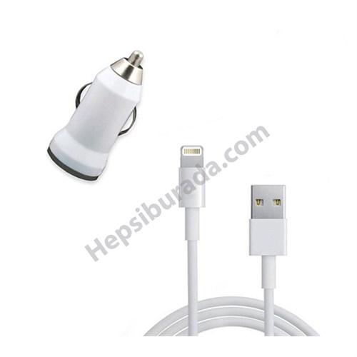 Fonemax Apple İphone 6 Plus-6S Plus Araç Şarj Cihazı+Data Kablosu