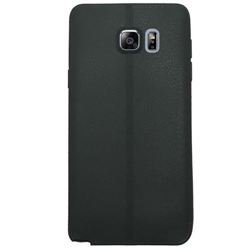 Melefoni Samsung Galaxy Note 5 Kılıf Silikon İnce Deri Görünümlü
