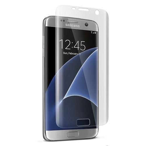 Microsonic Samsung Galaxy S7 Edge Kavisler Dahil Tam Ekran Kaplayıcı Şeffaf Koruyucu Film
