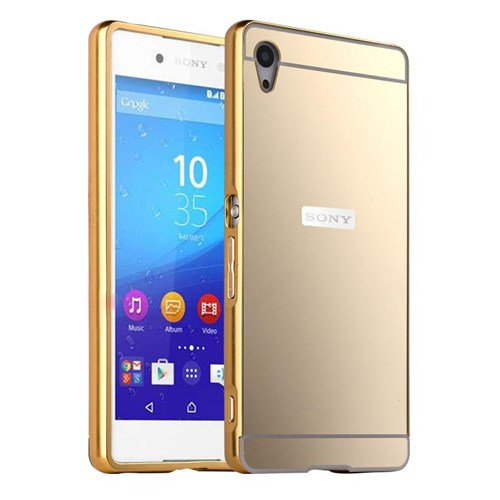 Microsonic Sony Xperia Z3+ Plus (Z4) Kılıf Luxury Mirror Gold