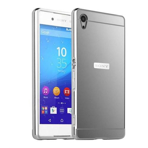 Microsonic Sony Xperia Z3+ Plus (Z4) Kılıf Luxury Mirror Gümüş