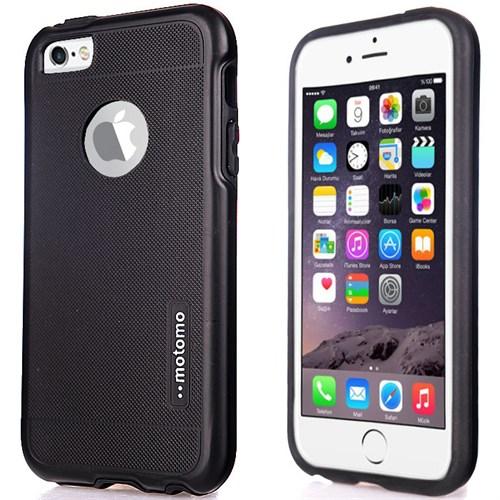CoverZone İphone 6 6S Kılıf Motomo New Hard Case Siyah