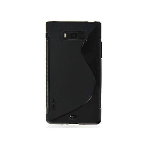 CoverZone Lg Optimus L7 P700 - P705 Kılıf Silikon S-Line Siyah