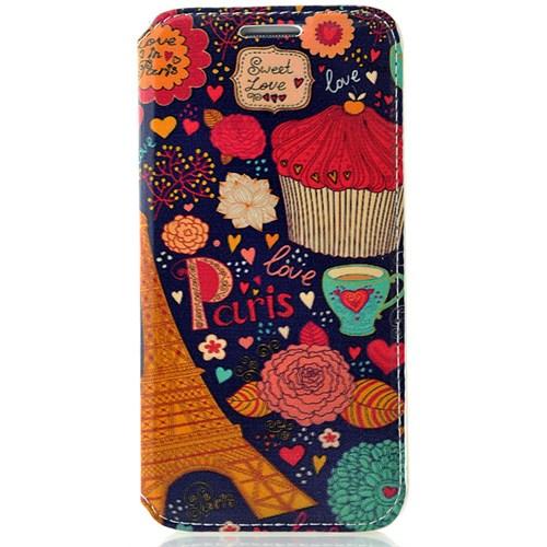 CoverZone Samsung Galaxy E5 Kılıf Resimli Kapaklı Love In Paris