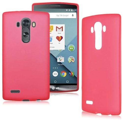 Teleplus Lg G4 0.2Mm Silikon Kılıf Kırmızı