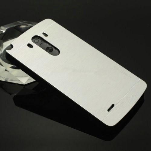 Teleplus Lg G3 Arka Tam Korumalı Metal Kapak Gri