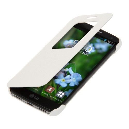 Teleplus Lg G2 Mini Pencereli Uyku Modlu Flip Cover Beyaz