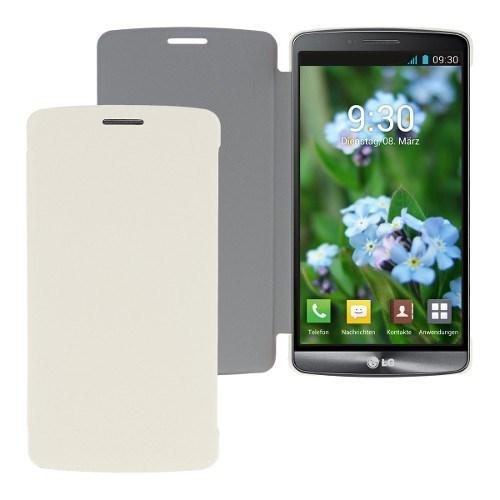 Teleplus Lg G3 Flip Cover Kılıf Beyaz