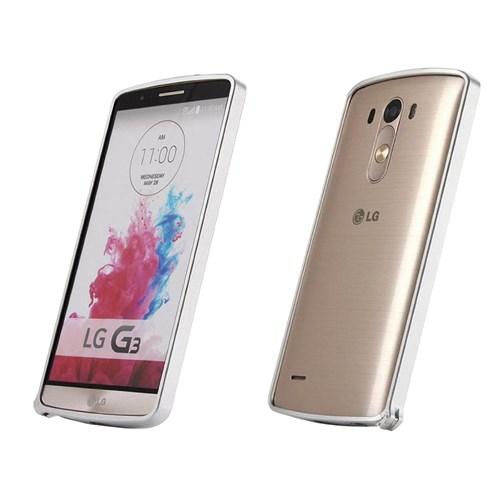 Teleplus Lg G3 Metal Çerçeveli Kılıf Gümüş