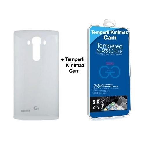 Teleplus Lg G4 Arka Kapak Beyaz Nfc Dahil + Kırılmaz Cam