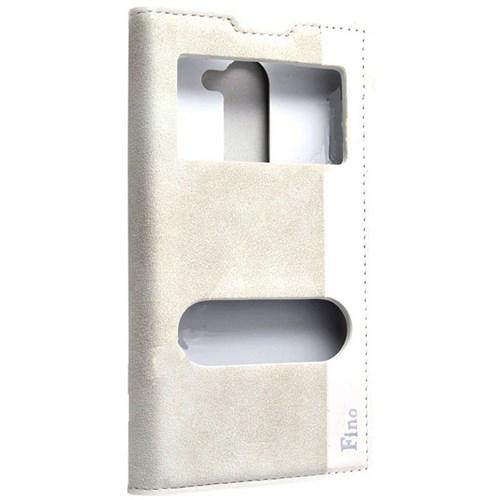Teleplus Lg L Fino Çift Pencereli Kılıf Lüx Beyaz