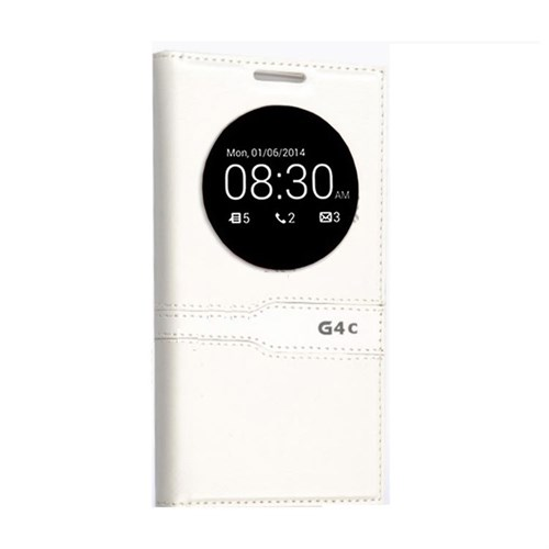 Teleplus Lg G4c Özel Pencereli Kılıf Beyaz