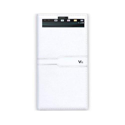 Teleplus Lg V10 Özel Pencereli Kılıf Beyaz