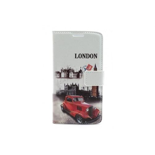 Teleplus Lg G3 London Yazılı Desenli Cüzdanlı Kılıf