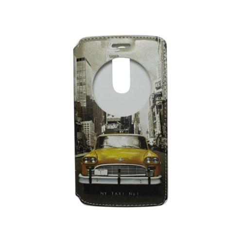 Teleplus Lg G3 Mini Pencereli Uyku Modlu Kılıf Taksi