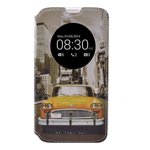 Teleplus Lg G4 Pencereli Desenli Kılıf Taksi