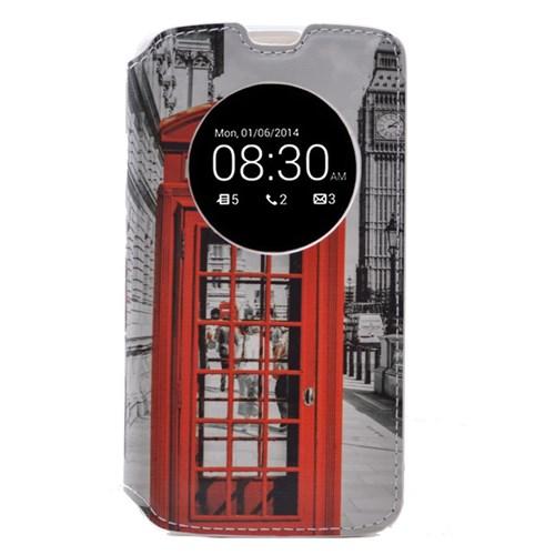 Teleplus Lg G4c Pencereli Desenli Kılıf Telefon