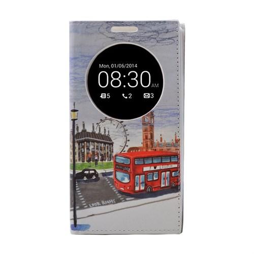 Teleplus Lg G4 Beat Pencereli Desenli Kılıf Kırmızı Otobüs