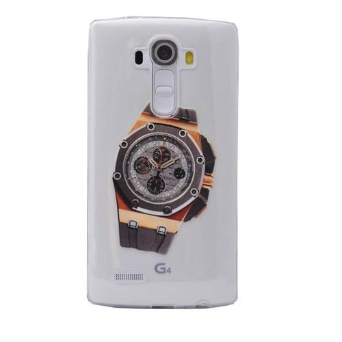 Teleplus Lg G3 Saat Desenli Tam Korumalı Silikon Kılıf 8