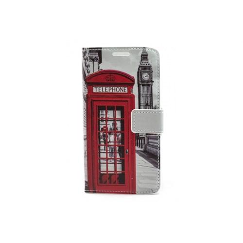 Teleplus Lg G3 Kırmızı Telefon Desenli Cüzdanlı Kılıf
