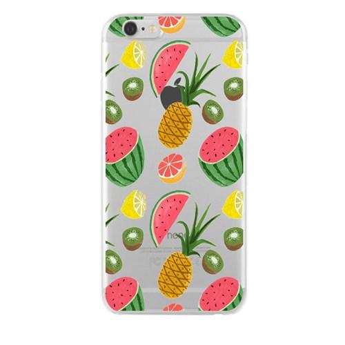 Remeto iPhone 6/6S Meyve Şöleni Apple Şeffaf Silikon Resimli Kılıf