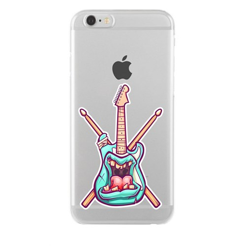 Remeto iPhone 6/6S Şeffaf Silikon Resimli Asabi Gitar
