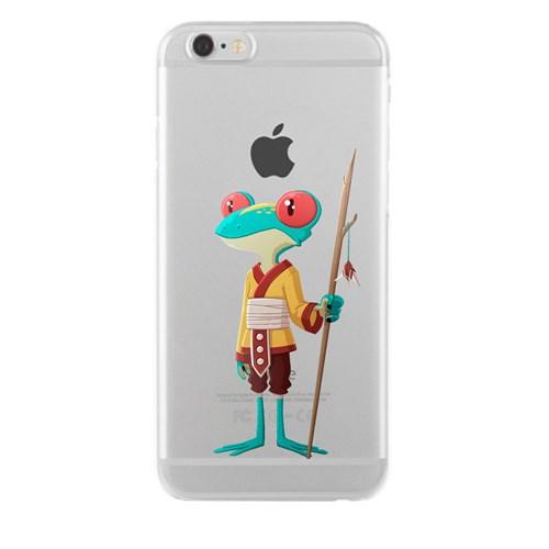 Remeto iPhone 6/6S Şeffaf Silikon Resimli Kabile Üyesi Kurbağa