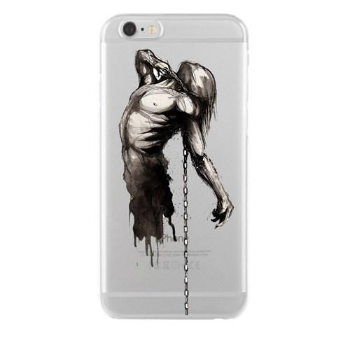 Remeto iPhone 6/6S Plus Şeffaf Silikon Resimli Tutsak Ruh
